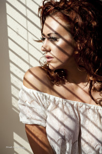Sunlight through the shades - Boudoir photographs