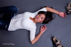 Chikeeh Talker lying down in beautiful glamour photograph